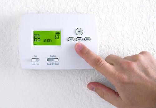 Programming thermostat